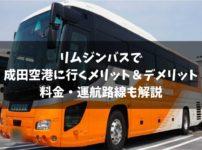 リムジンバスで成田空港へ!料金やメリット&デメリットを徹底解説