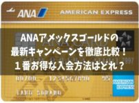 ANAアメックスゴールドの最新キャンペーンを徹底比較!紹介入会が一番お得